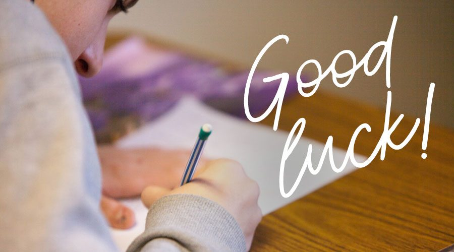 Good luck to our VCE students!